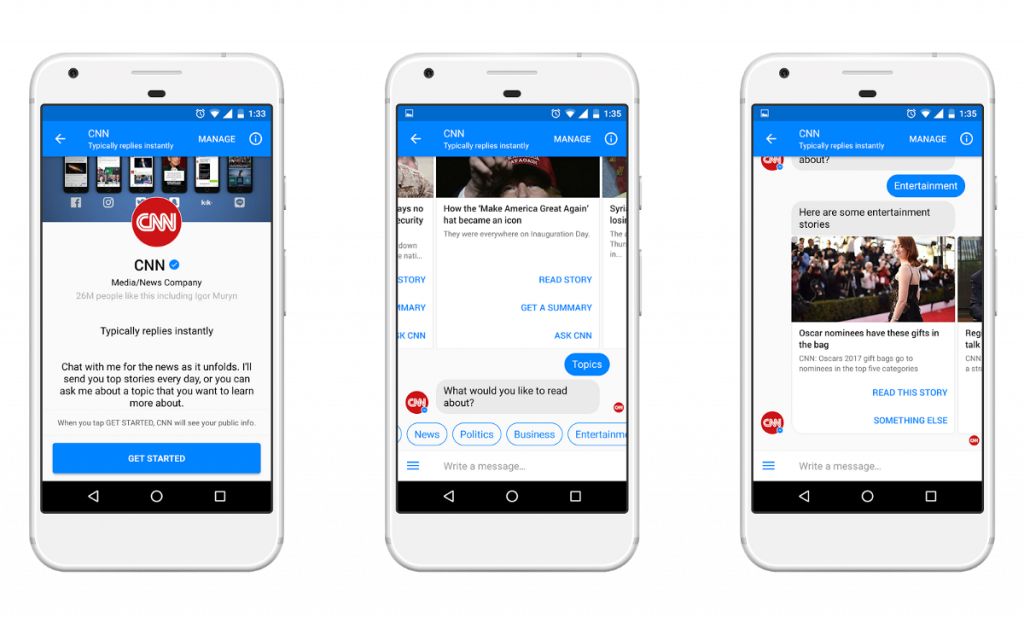 chat interfaces for news media
