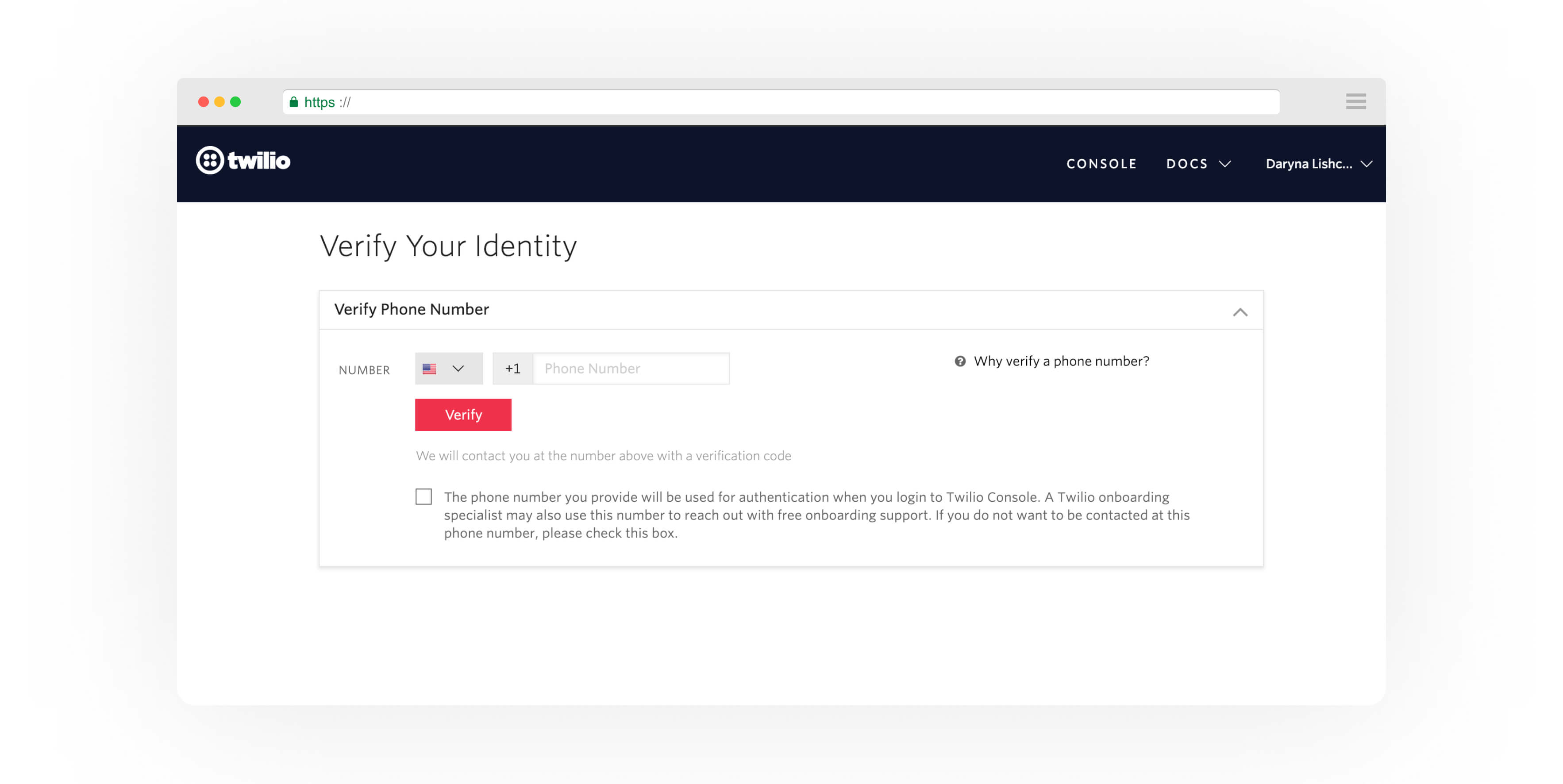 Twilio Verify Identity