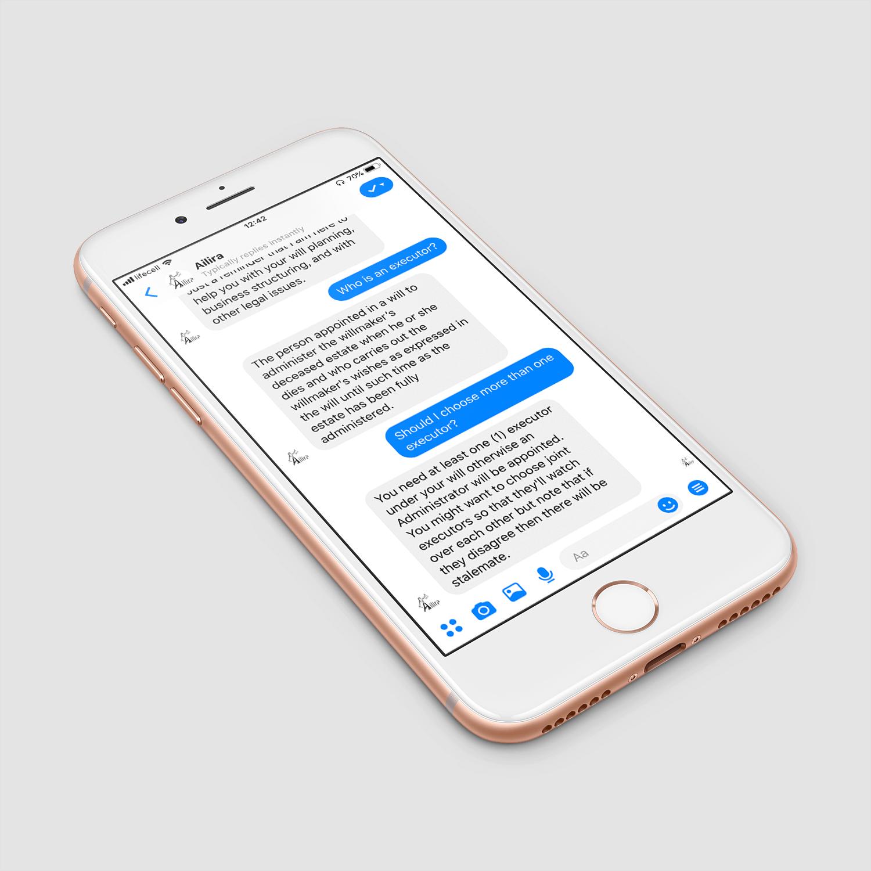 Ailira chatbot example