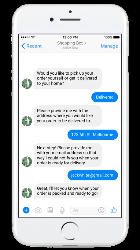 delivering via chatbot