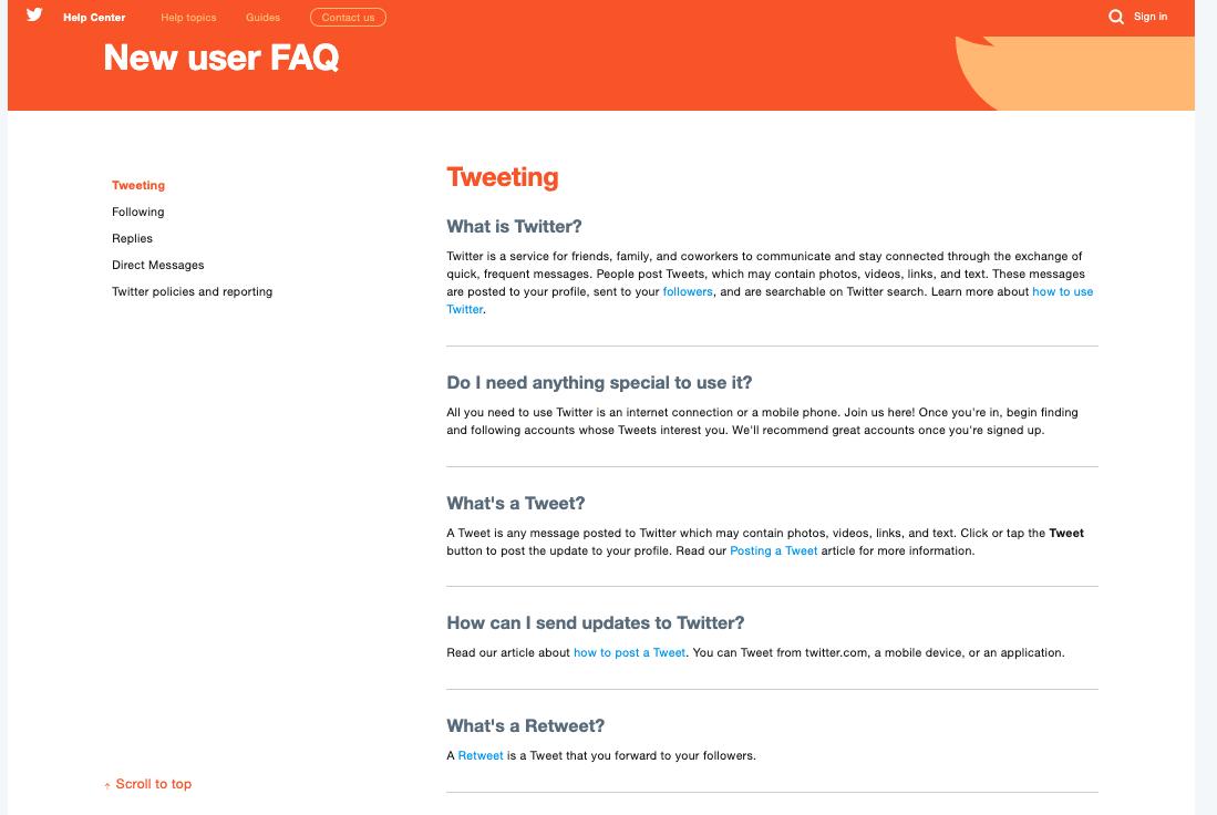 Twitter FAQ