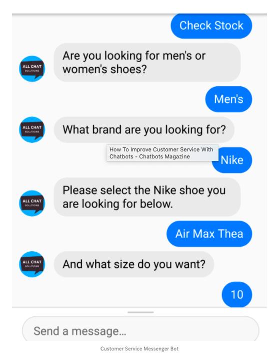shoe chatbot