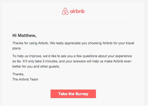 Airbnb survey letter