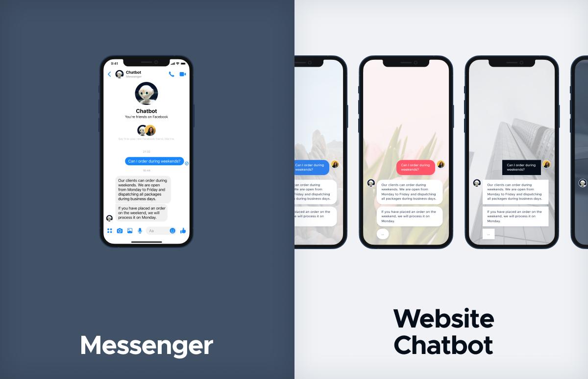 messenger and website chatbot